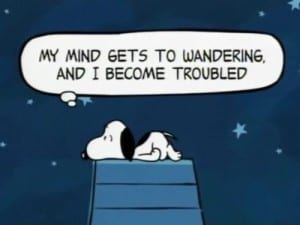Snoopy mind wandering