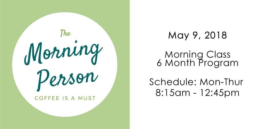 Morning Massage School Schedule