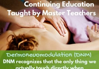 Dermoneuromodulation massage continuing education