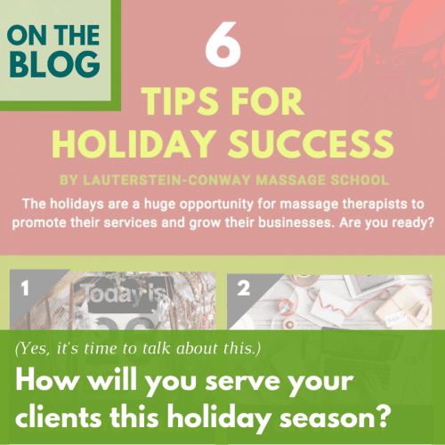 Tips to Help Your Massage Business Have a Successful Holiday Season