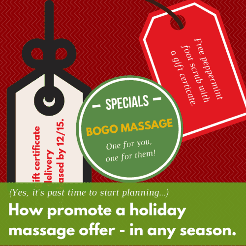 A Guide for Promoting Your Holiday Massage Offers (That Works All Year)